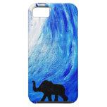 Elefanten unter Mondschein (K.Turnbull Kunst) iPhone 5 Hülle