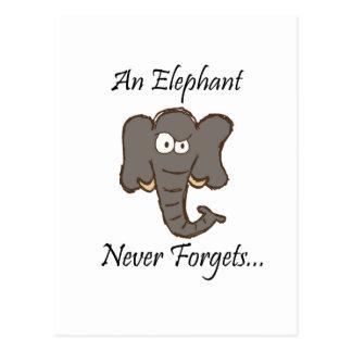 Elefanten vergessen nie postkarte