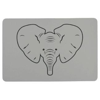 Elefantgesichts-Silhouette Bodenmatte