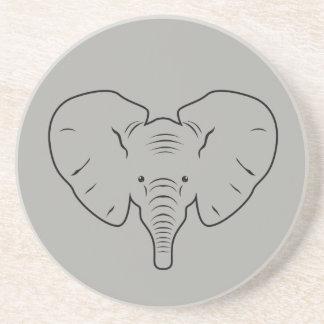 Elefantgesichts-Silhouette Getränkeuntersetzer