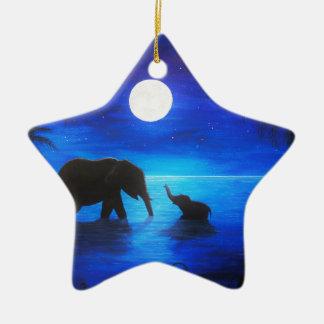 Elefantsternverzierung Keramik Ornament