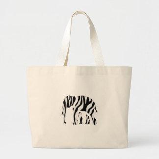 ElefantZebra: Wilder Brei-Oben Jumbo Stoffbeutel