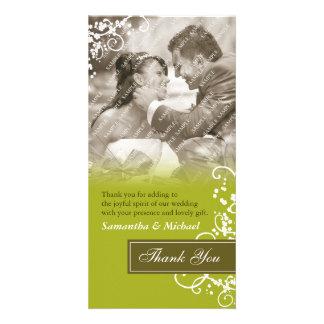 Elegant danke Foto-Karten Photokartenvorlage