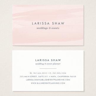 Elegant erröten rosa Aquarell Visitenkarten