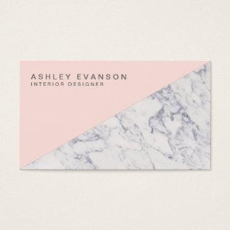 Elegant erröten rosa berufliches visitenkarten