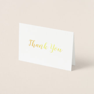 Elegant Gold on White Bridal Wedding Thank You
