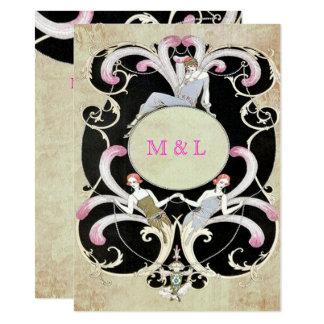 Elegant, Kunst-Deko, Wedding 11,4 X 15,9 Cm Einladungskarte