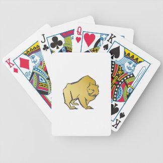 Elegant luxuriöser Goldbär Bicycle Spielkarten