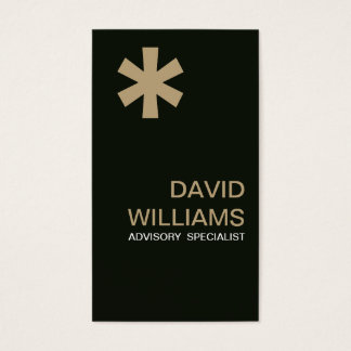 Elegant moderner frischer Professioneller Visitenkarte