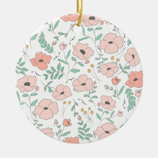 Elegant seamless pattern with flowers, Vektor, Keramik Ornament