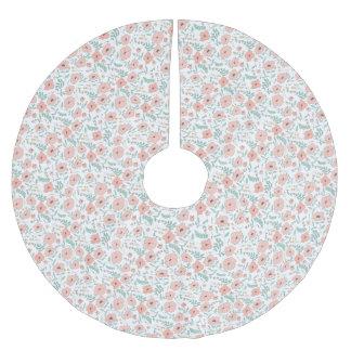 Elegant seamless pattern with flowers, Vektor, Polyester Weihnachtsbaumdecke