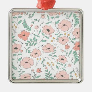 Elegant seamless pattern with flowers, Vektor, Silbernes Ornament
