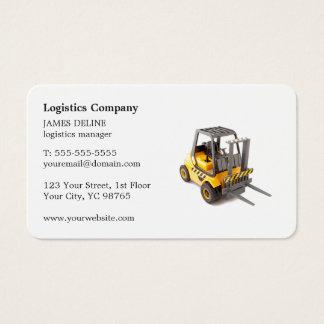 Elegant Simple Forklift Logistics Company Visitenkarte