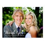 Elegant vorbereitete Hochzeit danken Ihnen Postkar Postkarte
