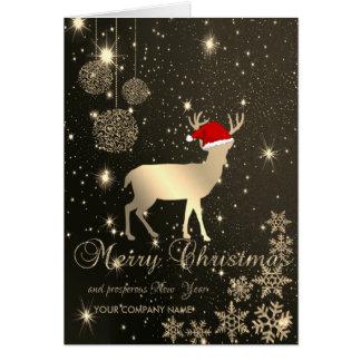 Elegant, Weihnachtsrotwild, Schneeflocken, Karte