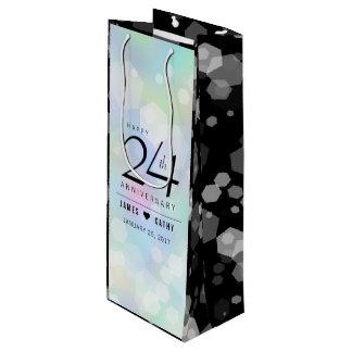 Elegante 24. OpalHochzeitstag-Feier Geschenktüte Für Weinflaschen