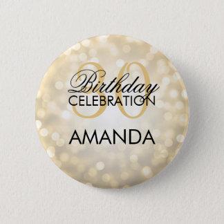 Elegante 30. Geburtstags-Party-GoldGlitter-Lichter Runder Button 5,7 Cm