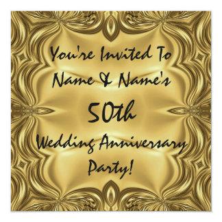 Elegante 50. Jahrestags-Party Einladungen