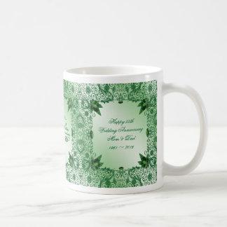 Elegante 55. Hochzeits-Jahrestags-Kaffee-Tasse Tasse