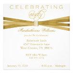 Elegante 60. Geburtstags-Party Einladungen