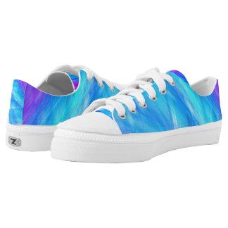 Elegante abstrakte Art blaues Unisex Niedrig-geschnittene Sneaker