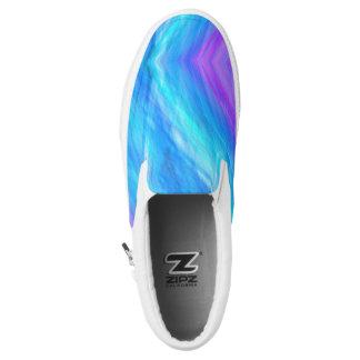 Elegante abstrakte Art blaues Unisex Slip-On Sneaker
