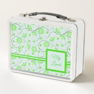 Elegante abstrakte Blumen 5 Metall Lunch Box