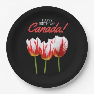 Elegante Ahornblatt-Tulpen alles- Gute zum Pappteller