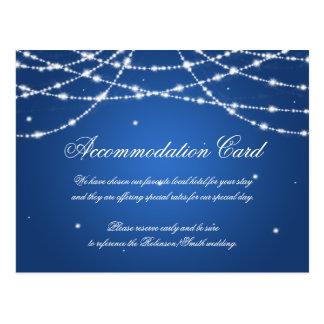 Elegante Anpassungs-funkelndes Schnur-Blau Postkarte