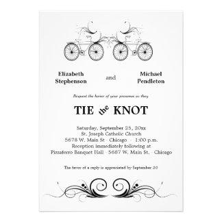 Elegante antike Fahrrad-Hochzeit laden ein