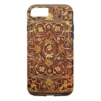 Elegante Antike vergoldete ledernen Bucheinband iPhone 8/7 Hülle