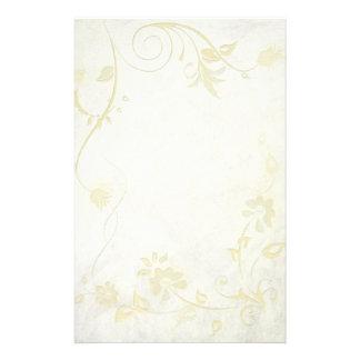 Elegante antike weiße Vintage Hochzeit Personalisierte Druckpapiere