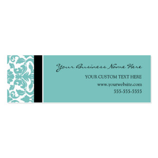 Elegante aquamarine Damast-Geschäfts-Karten Jumbo-Visitenkarten