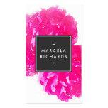 Elegante Aquarell-Rosa-Pfingstrosen II Visitenkarten