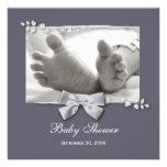 Elegante Babyparty-neue Baby-Füße mit silbernem Individuelle Ankündigungen