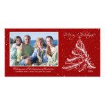 Elegante Baum-Familien-WeihnachtsFoto-Karte Foto Karten Vorlage