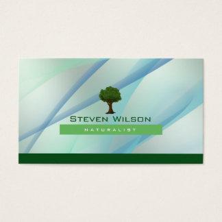 Elegante Baum-Grün-Natur-Rasen-Garten-Landschaft Visitenkarte