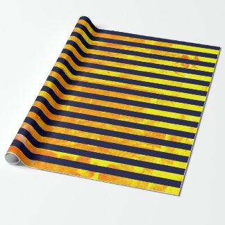 Elegante bernsteinfarbige Ameise stripes Muster Geschenkpapier