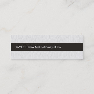 Elegant Texture White Black Stripe Attorney