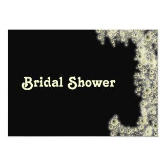 Elegante Blasen-schwarze Brautparty-Einladung 12,7 X 17,8 Cm Einladungskarte