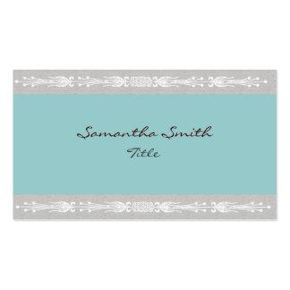 Elegante blaue aquamarine und graue Geschäftskarte Visitenkarten