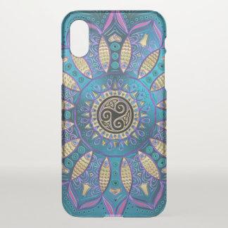 Elegante blaue Mandala-keltischer Knoten iPhone X iPhone X Hülle