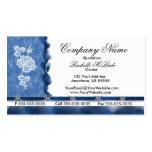 Elegante blaue Stickerei-weiße Visitenkarte