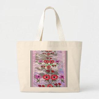 Elegante Blumen-Anzeige auf Geschenken für jede Jumbo Stoffbeutel