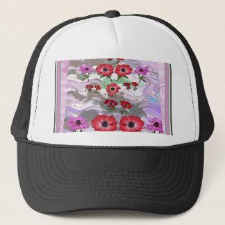 Elegante Blumen-Anzeige auf Geschenken für jede Truckerkappe