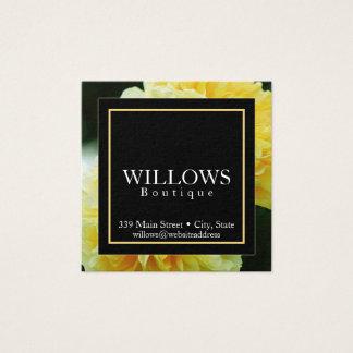 Elegante, Blumen-, quadratische Visitenkarte