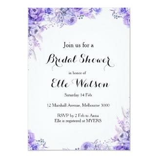Elegante BlumenBrautparty-Einladung Karte
