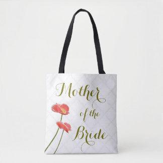 Elegante Blumenmutter der Braut-Rot-Mohnblumen Tasche