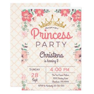 Elegante BlumenParty Einladung prinzessin-Birthday