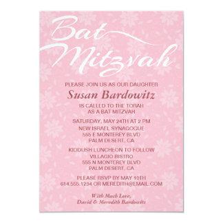Elegante Blumenschläger Mitzvah Einladung